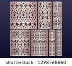 laser cut ornamental panel... | Shutterstock .eps vector #1298768860