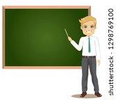 male teacher in classroom...   Shutterstock .eps vector #1298769100