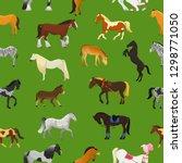 cartoon horse vector cute... | Shutterstock .eps vector #1298771050