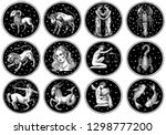 Zodiac Icons. Astrology...