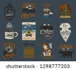camping logo and labels.... | Shutterstock .eps vector #1298777203
