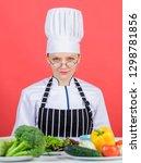 culinary school concept. female ...   Shutterstock . vector #1298781856