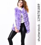 winter fashionable wardrobe for ... | Shutterstock . vector #1298781889