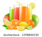isolated juices. four glasses... | Shutterstock . vector #1298800150