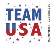 team usa text with red and blue ... | Shutterstock .eps vector #1298801110