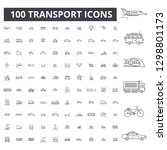transport editable line icons ... | Shutterstock .eps vector #1298801173