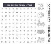 supply chain editable line... | Shutterstock .eps vector #1298801200