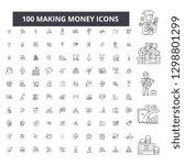 making money editable line... | Shutterstock .eps vector #1298801299