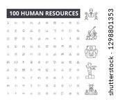 human resources editable line... | Shutterstock .eps vector #1298801353