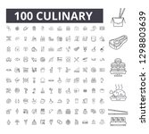culinary editable line icons ... | Shutterstock .eps vector #1298803639