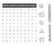 alternative medicine editable... | Shutterstock .eps vector #1298803993