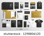 pealistic  black and gold... | Shutterstock .eps vector #1298806120