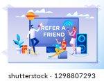 refer a friend vector... | Shutterstock .eps vector #1298807293