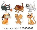 illustration of six different...   Shutterstock . vector #129880949