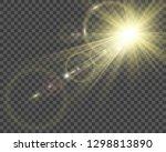 special lens flash  light... | Shutterstock .eps vector #1298813890