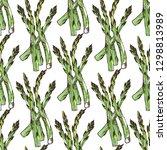 vegan food seamless pattern... | Shutterstock .eps vector #1298813989