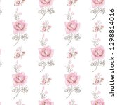 seamless pattern with rose... | Shutterstock .eps vector #1298814016