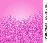 pink glitter texture border....   Shutterstock .eps vector #1298817403