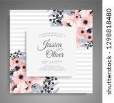 wedding invitation. beautiful... | Shutterstock .eps vector #1298818480