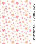 spring flower pattern   Shutterstock . vector #1298824699