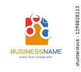 share document icon logo design ... | Shutterstock .eps vector #1298828113