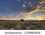 Постер, плакат: Kalahari desert sunset Grootkolk