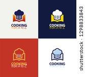 recipe book logo template... | Shutterstock .eps vector #1298833843