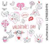 collection of hand drawn... | Shutterstock . vector #1298838496