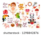 big valentine's day set with... | Shutterstock .eps vector #1298842876