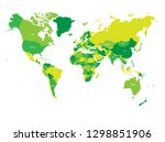 world map in four shades of... | Shutterstock .eps vector #1298851906