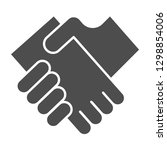 business handshake solid icon....