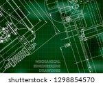 blueprint. vector engineering... | Shutterstock .eps vector #1298854570