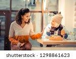 friendly attitude. joyful... | Shutterstock . vector #1298861623