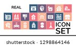 real icon set. 19 filled real... | Shutterstock .eps vector #1298864146