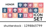 honor icon set. 19 filled... | Shutterstock .eps vector #1298865799