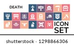 death icon set. 19 filled... | Shutterstock .eps vector #1298866306