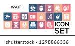 wait icon set. 19 filled wait... | Shutterstock .eps vector #1298866336