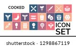 cooked icon set. 19 filled... | Shutterstock .eps vector #1298867119