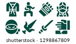 martial icon set. 8 filled... | Shutterstock .eps vector #1298867809