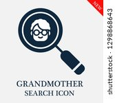 grandmother search icon.... | Shutterstock .eps vector #1298868643