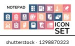 notepad icon set. 19 filled...   Shutterstock .eps vector #1298870323