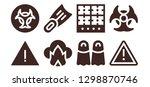 dangerous icon set. 8 filled...   Shutterstock .eps vector #1298870746