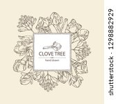 background with clove tree ... | Shutterstock .eps vector #1298882929