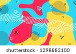 pop art color background.... | Shutterstock .eps vector #1298883100