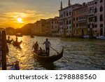 grand canal with gondolas in...   Shutterstock . vector #1298888560