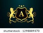 luxury  royal and elegant logo... | Shutterstock .eps vector #1298889370