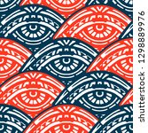 hand made ethnic pattern with... | Shutterstock . vector #1298889976