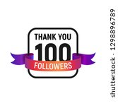 100 followers number with color ...   Shutterstock .eps vector #1298896789