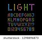 font lamp symbol  neon led... | Shutterstock .eps vector #1298896873