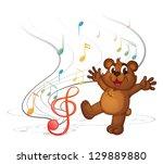 Illustration Of A Dancing Bear...